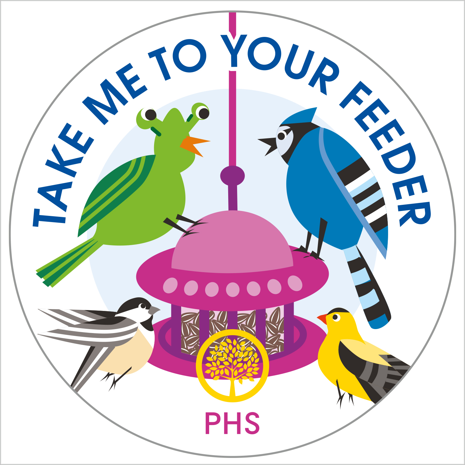 Design and illustrations for collectible buttons that were sold to raise funds for the Pennsylvania Horticultural Society during the 2020 PHS Philadelphia Flower Show.