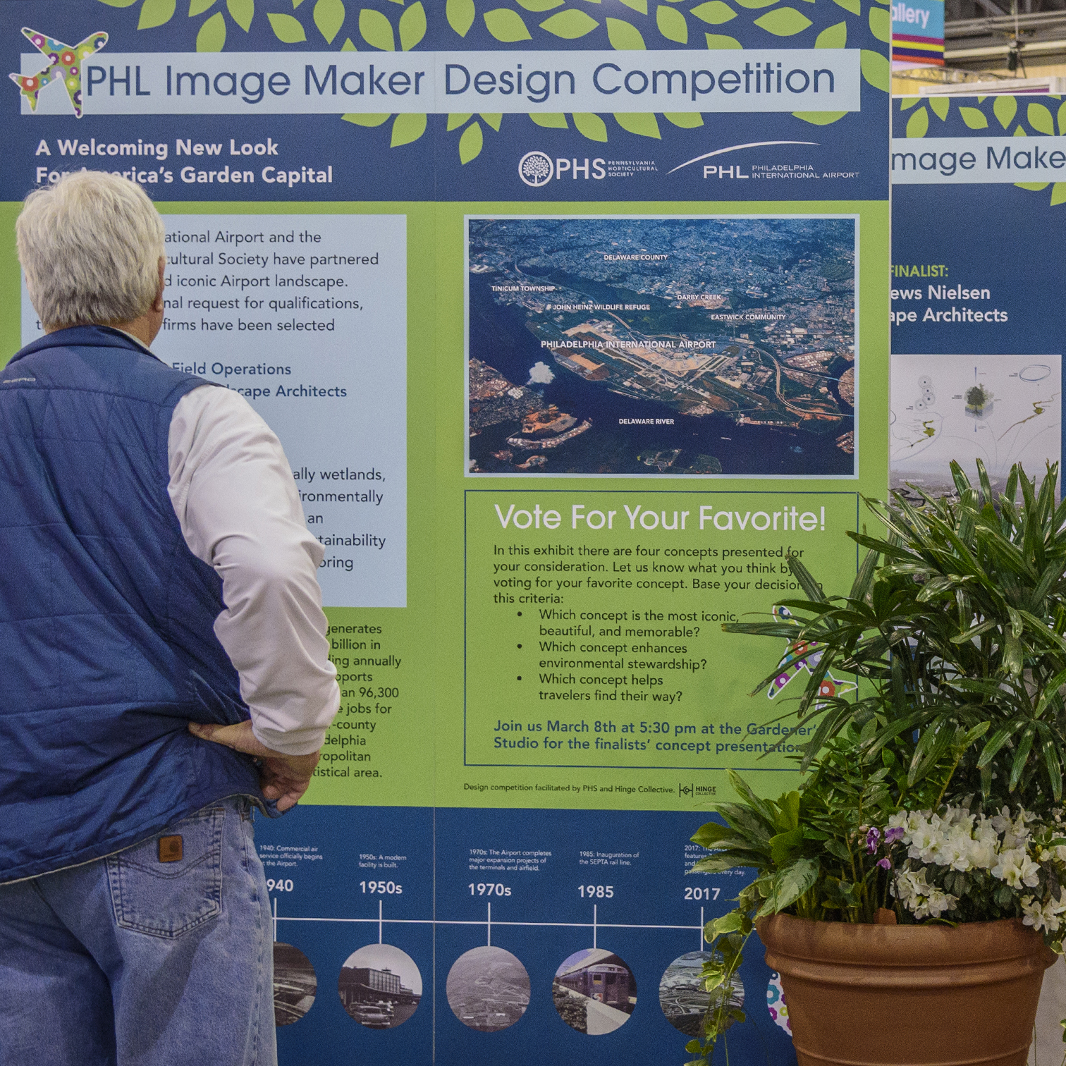Exhibit for the PHL Image Maker Landscape Design Competition at the 2018 PHS Philadelphia Flower Show.