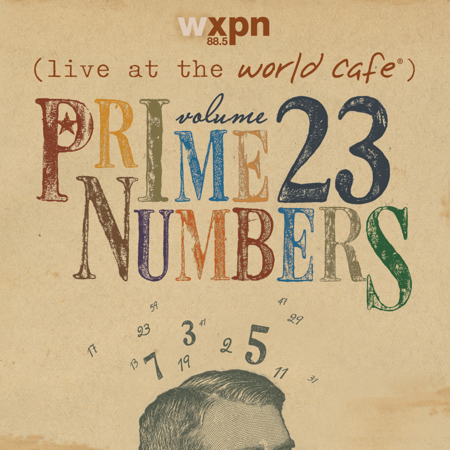 CD package design (six-panel jewel case) for WXPN Live at the World Cafe, Volume 23.