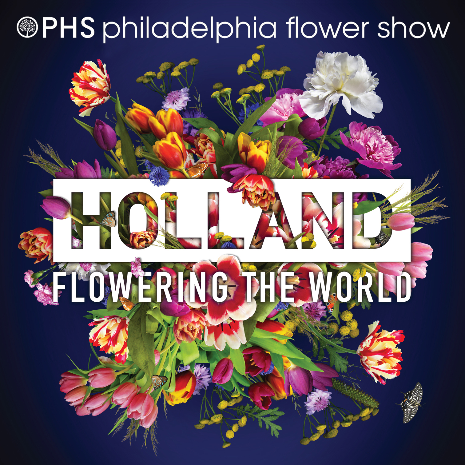 The poster design that was selected for the 2017 PHS Philadelphia Flower Show (Pennsylvania Horticultural Society's annual fundraising event).