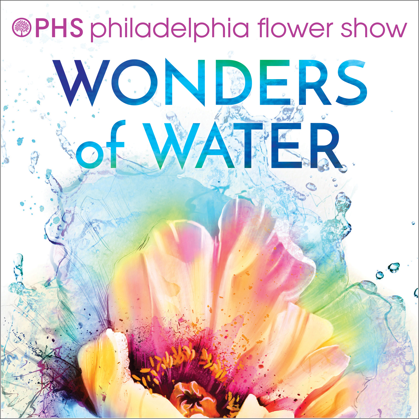 The poster design that was selected for the 2018 PHS Philadelphia Flower Show (Pennsylvania Horticultural Society's annual fundraising event).