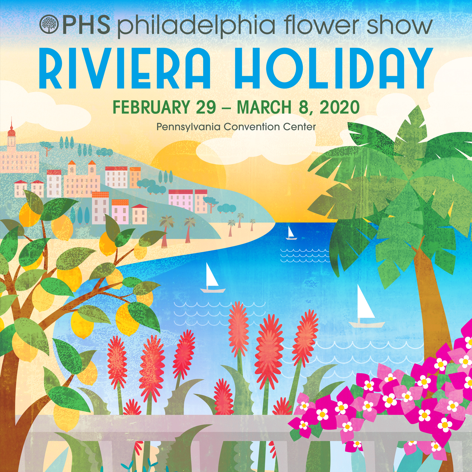 The poster design that was selected for the 2019 PHS Philadelphia Flower Show (Pennsylvania Horticultural Society's annual fundraising event).
